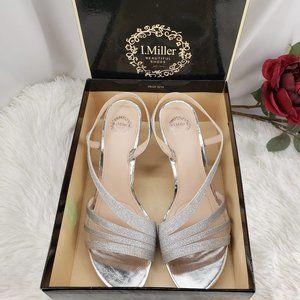 Beautiful Shimmery Silver Heels NIB